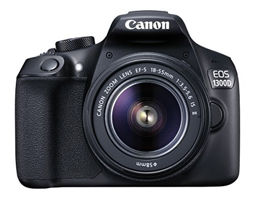 canon eos 1300d 18mp digital slr camera black with 18 55mm isii lens 16gb